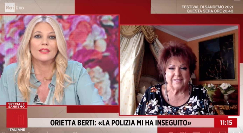 """Orietta Berti a Sanremo 2021: """"Stasera le scale non le scendo"""""""