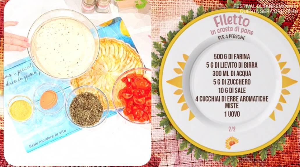 Filetto in crosta, la ricetta di Zia Cri del secondo piatto completo