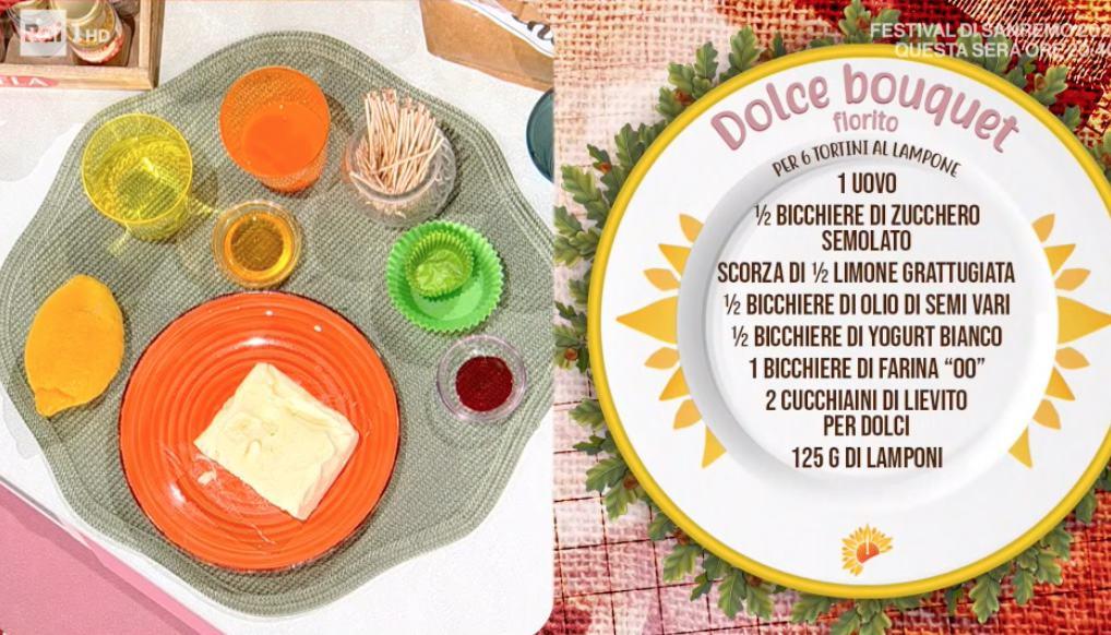 Bouquet dolce, la ricetta di Sara Brancaccio