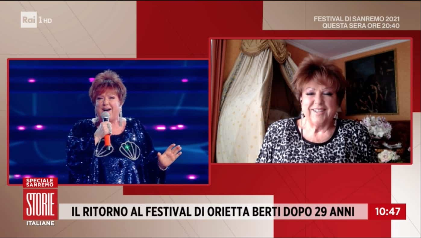 """Incidente per Orietta Berti dietro le quinte di Sanremo 2021: """"Per questo ero emozionatissima"""" (Foto)"""