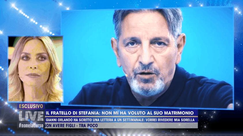 Live, Stefania Orlando lancia un messaggio per il fratello Gianni e apre le porte del suo cuore