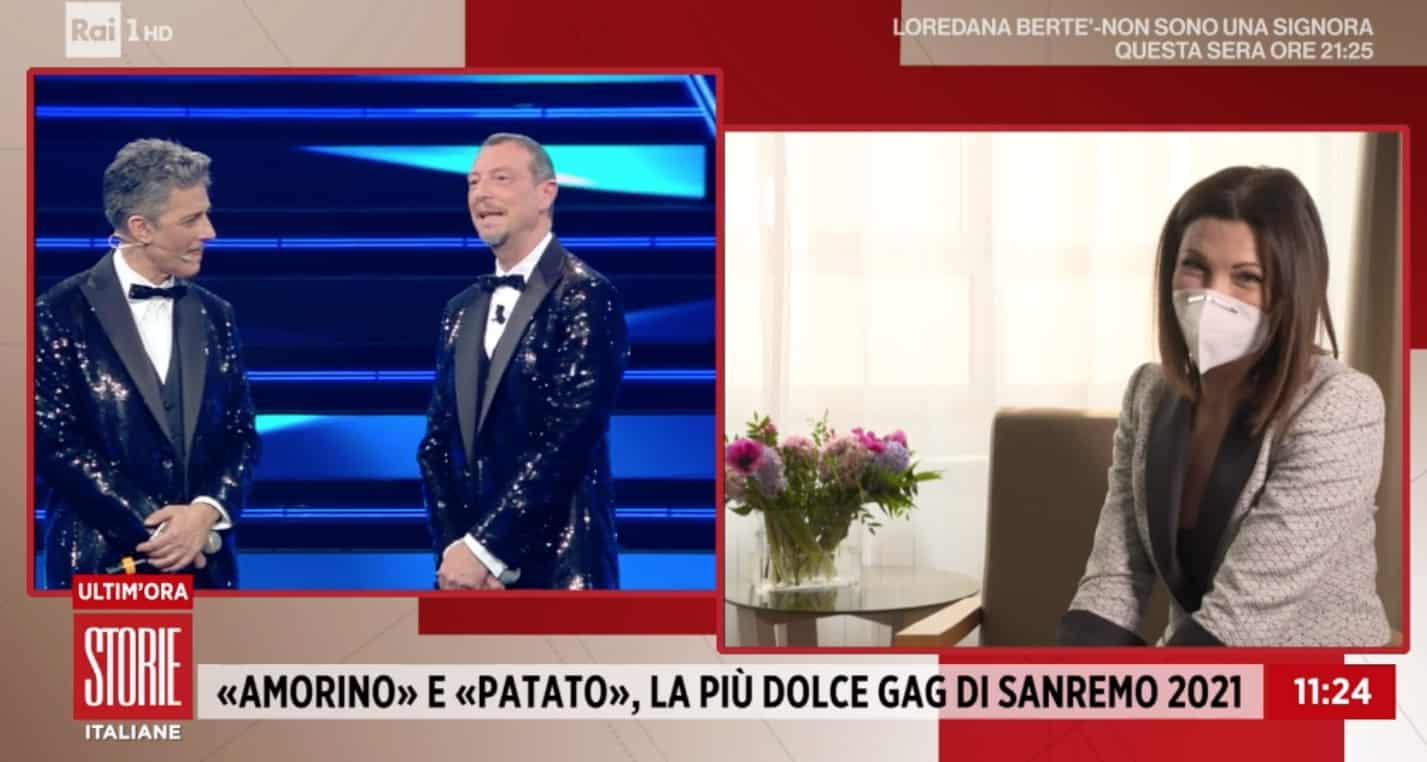 """Giovanna Civitillo a Storie Italiane: """"Amadeus e Fiorello sono dei giganti"""" (Foto)"""