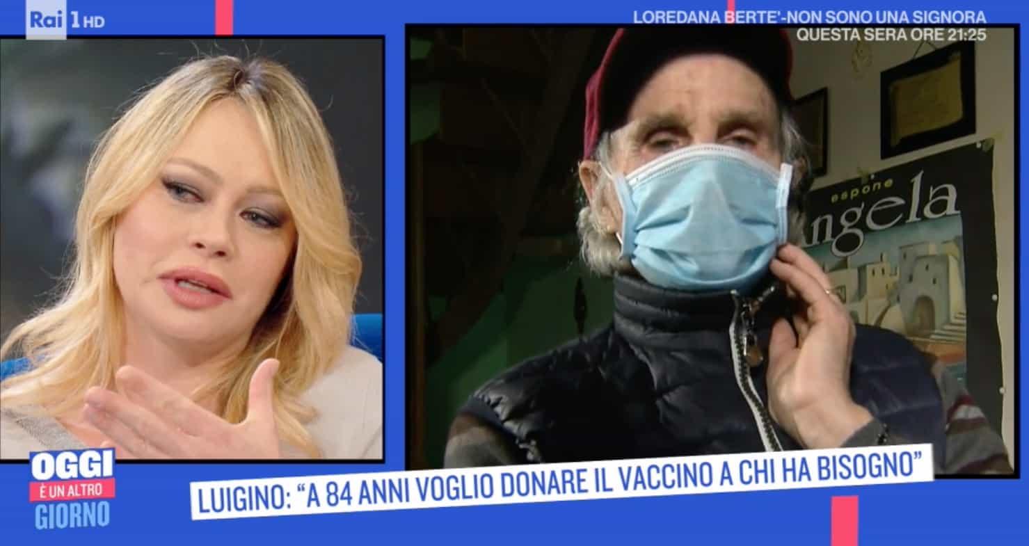Luigino ha 84 anni e dona la sua dose di vaccino a una mamma malata di tumore