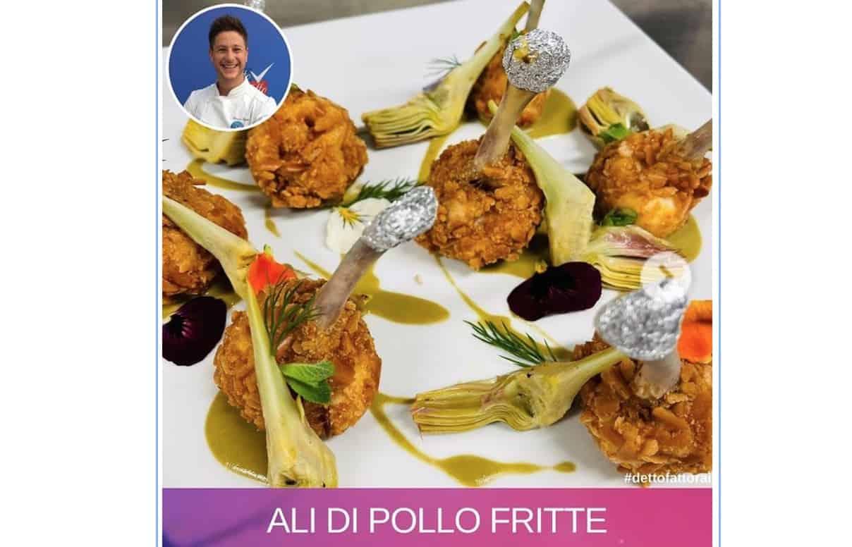 Ali di pollo fritte, la ricetta di Simone Finetti