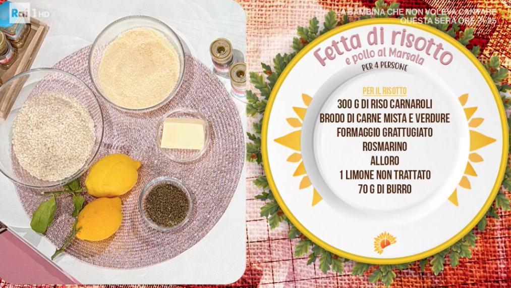 Fetta di risotto e pollo al Marsala, la ricetta di Sergio Barzetti