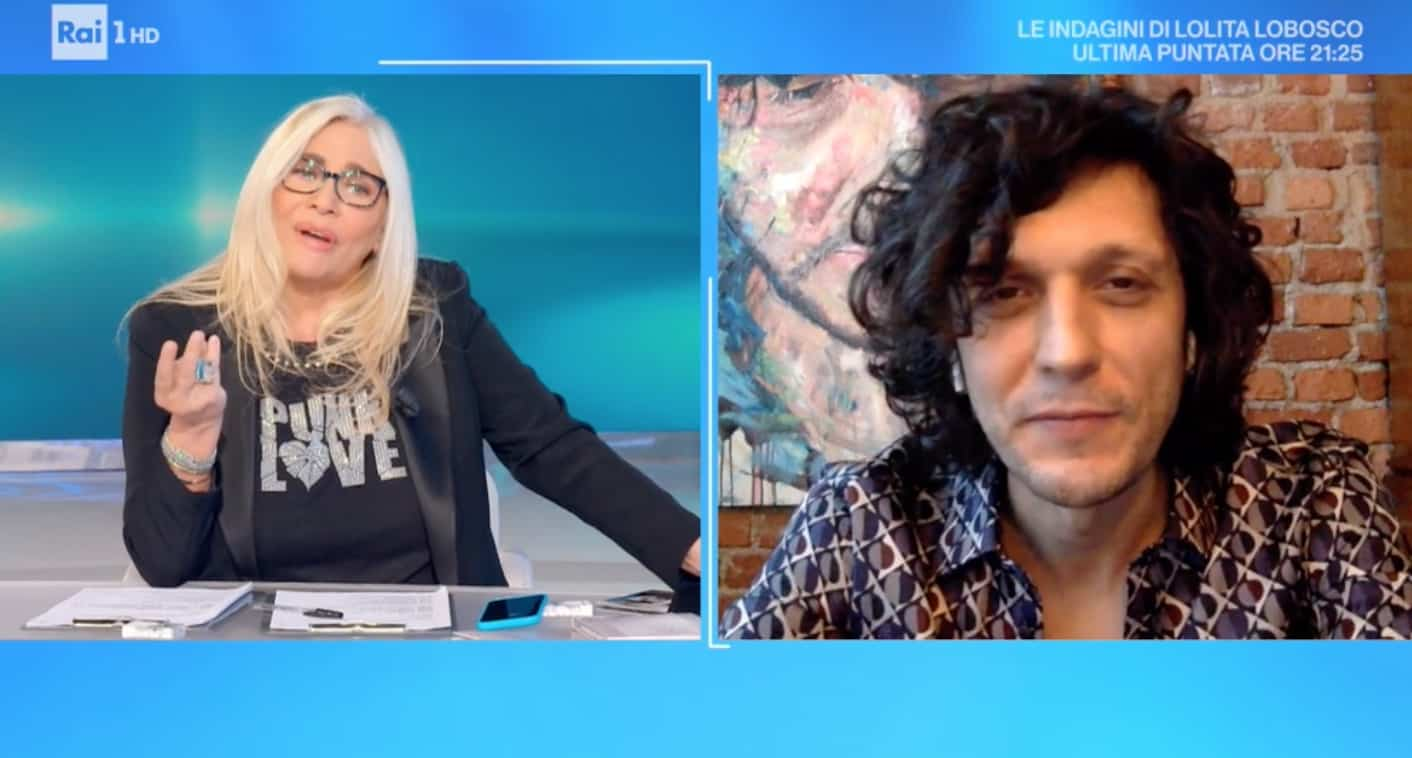 """Ermal Meta a Milano, Mara Venier lo rimprovera: """"La zona rossa comincia domani"""""""