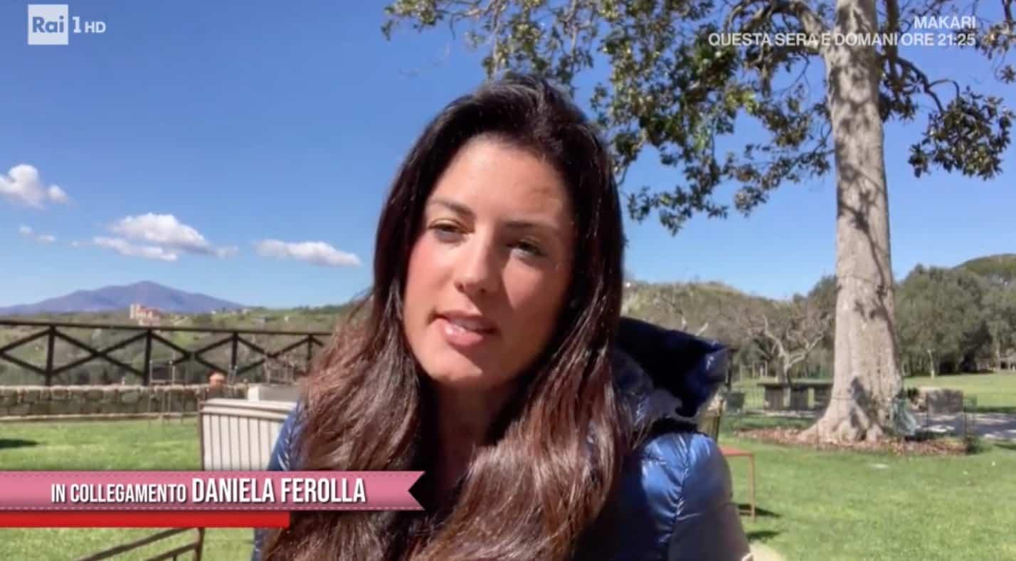 Daniela Ferolla in collegamento da casa nel Cilento con Antonella Clerici (Foto)