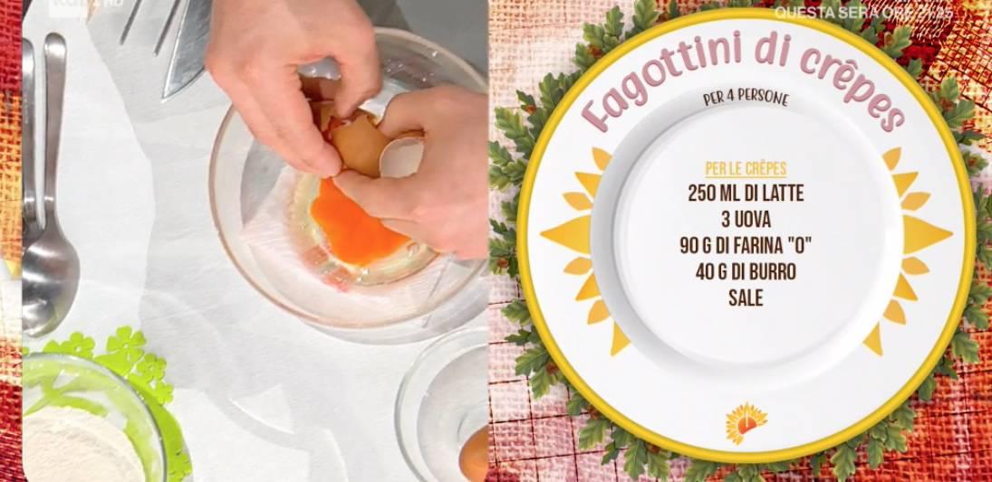 Fagottini di crepes, la ricetta di Gian Piero Fava