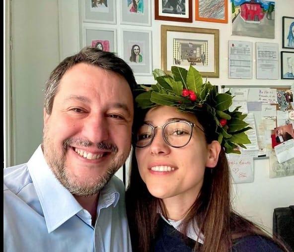 Francesca Verdini si è laureata, la dedica a Matteo Salvini e alla famiglia (Foto)