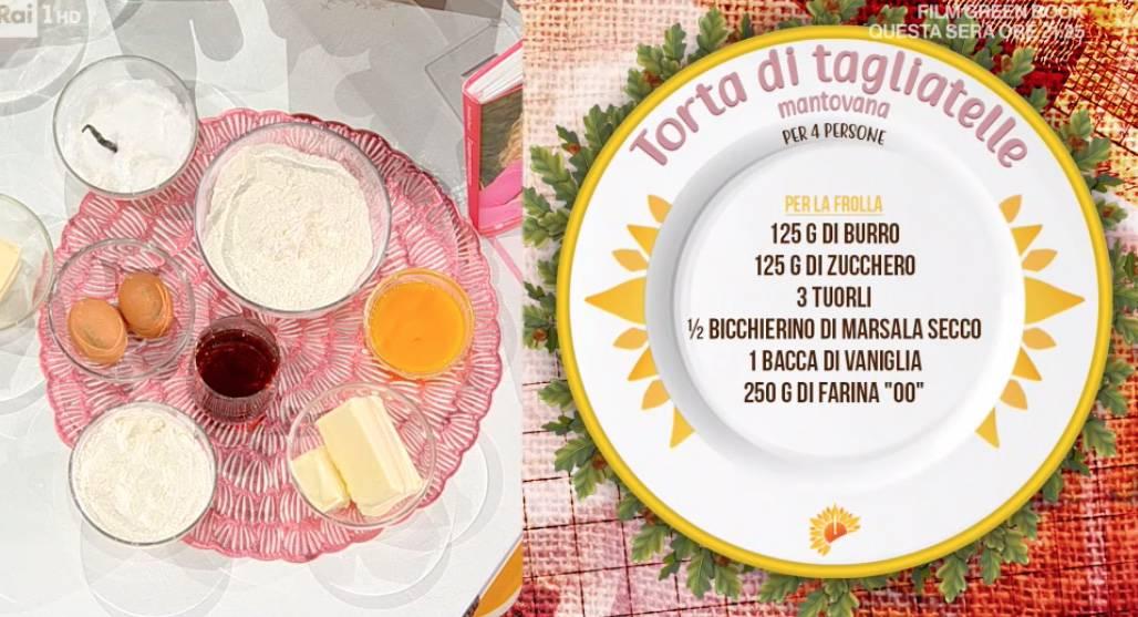 Torta di tagliatelle mantovana, la ricetta dolce di Daniele Persegani