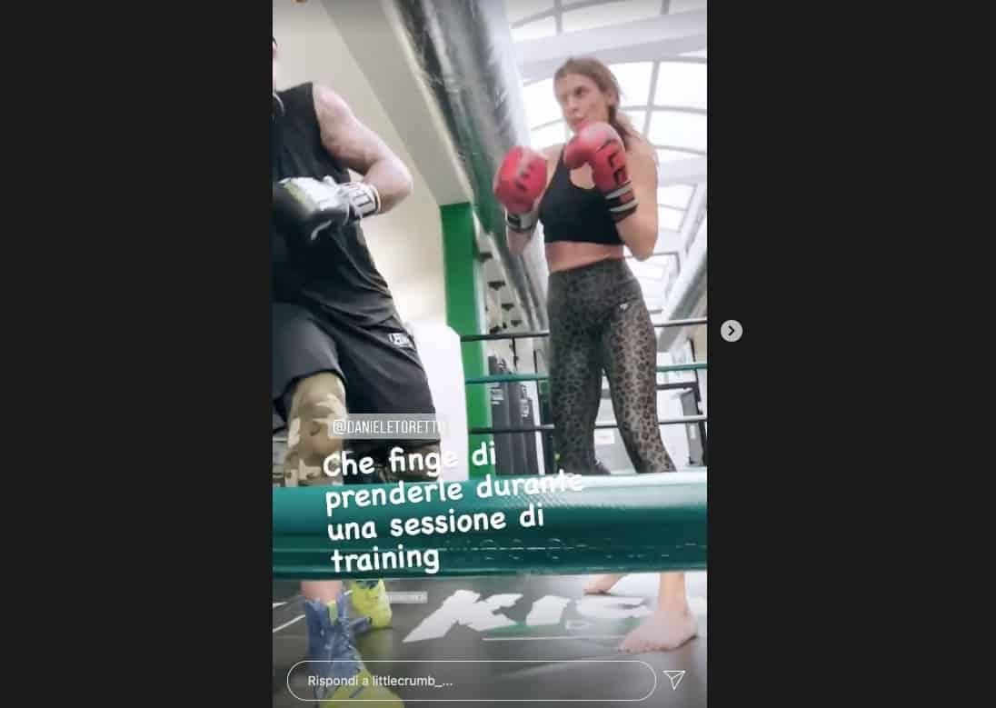 Elisabetta Canalis si allena con Daniele Scardina pronta per Verissimo (Foto)