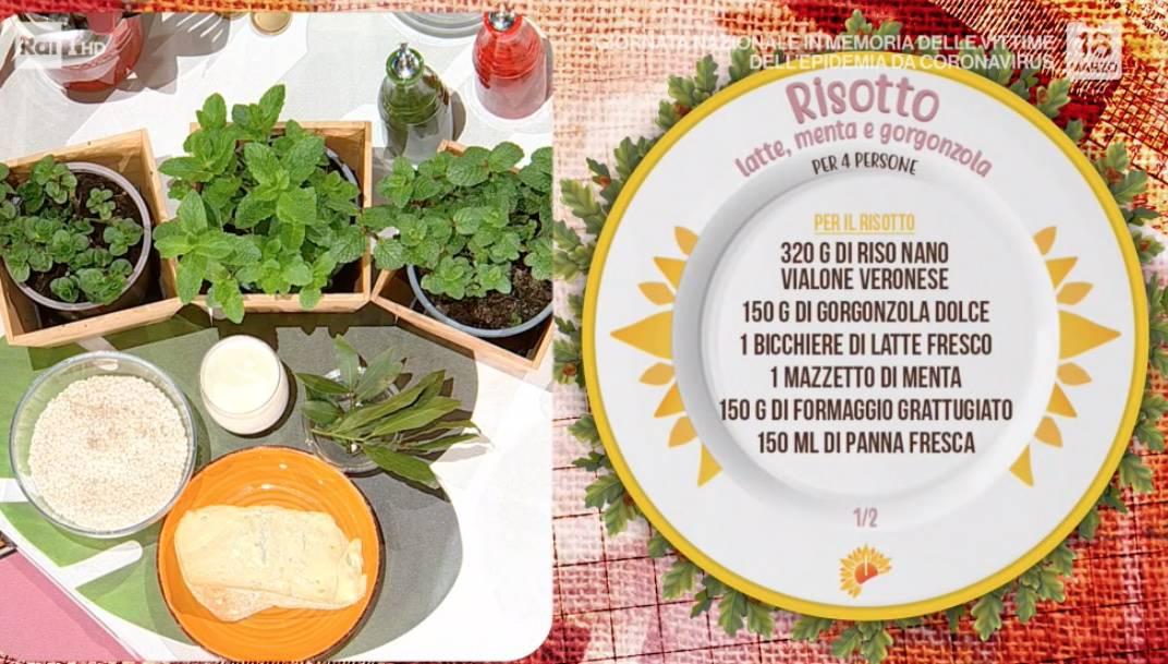 Risotto latte, menta e gorgonzola: la ricetta di Sergio Barzetti