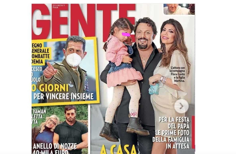 Enrico Brignano e Flora Canto svelano il nome scelto per il figlio (Foto)