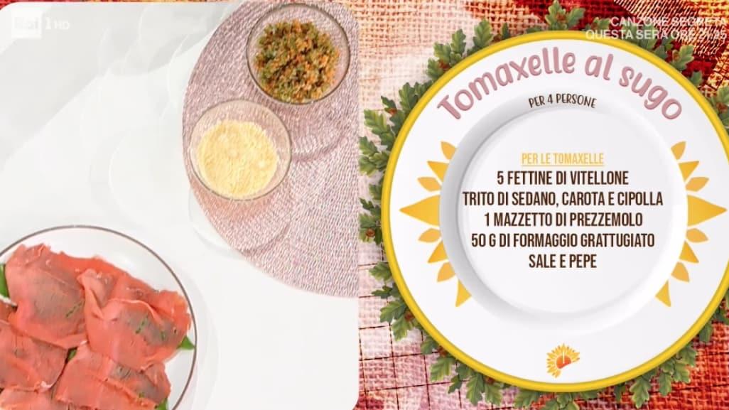 Tomaxelle al sugo, la ricetta di Ivano Ricchebono
