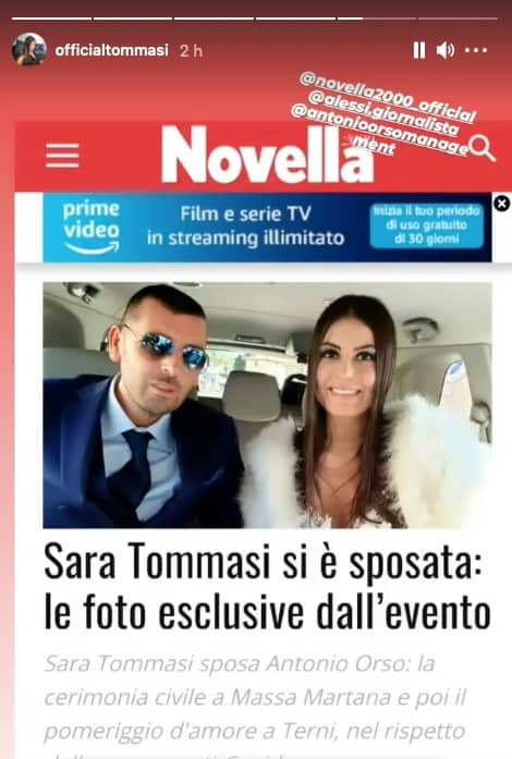 Il matrimonio di Sara Tommasi e Antonio Orso con poche persone e una spa per festeggiare (Foto)