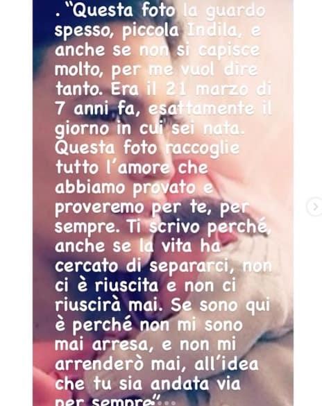 Claudia Galanti scrive alla figlia, non si arrenderà mai alla sua morte (Foto)