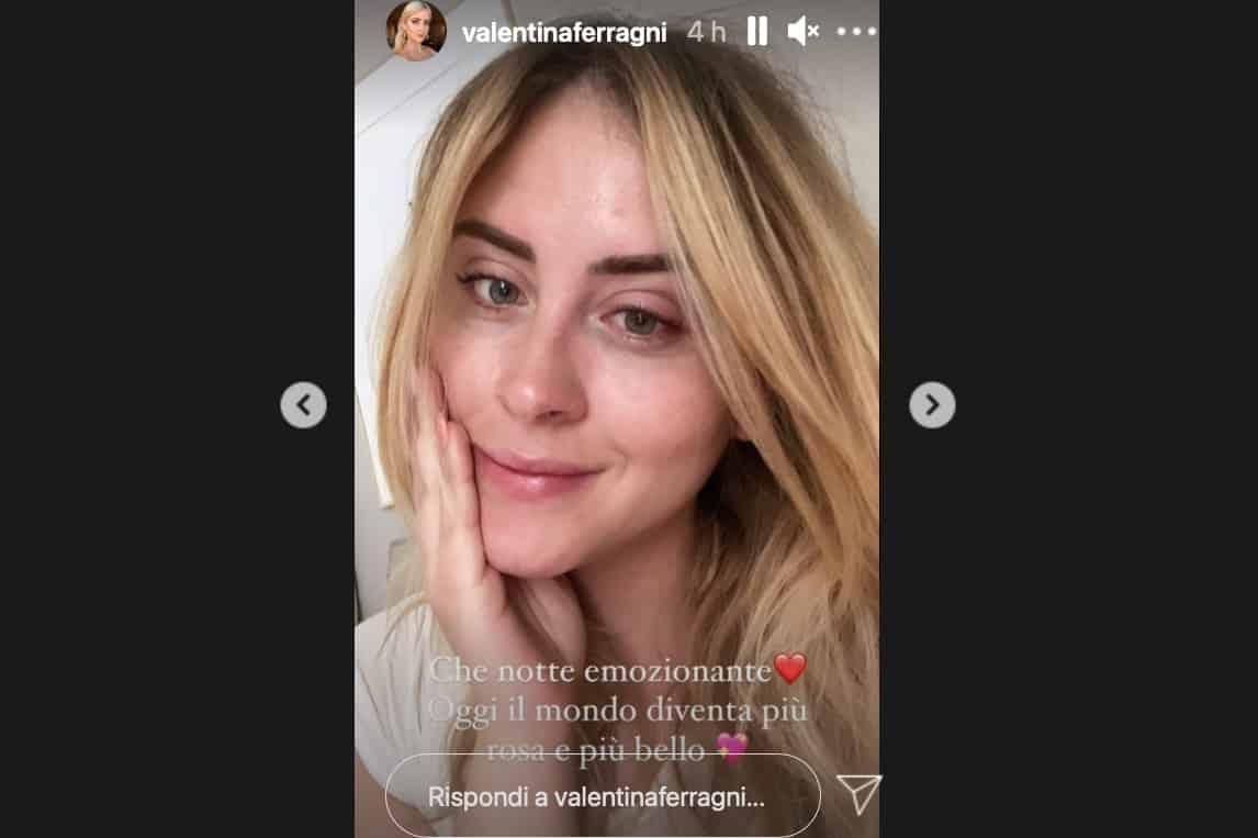 Per Valentina Ferragni notte piena d'ansia in attesa della nipotina Vittoria (Foto)