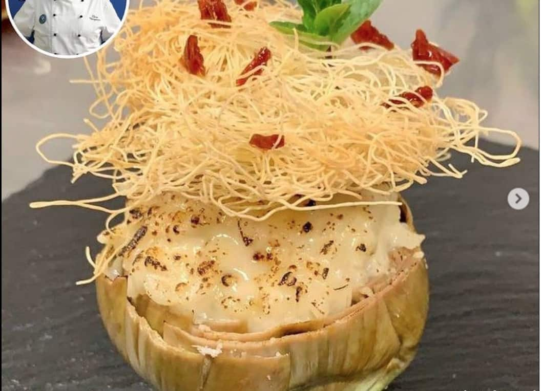 Carciofi ripieni di riso e formaggio, la ricetta di Ilario Vinciguerra