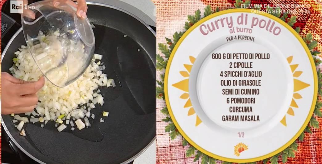 La ricetta indiana del curry di pollo al burro