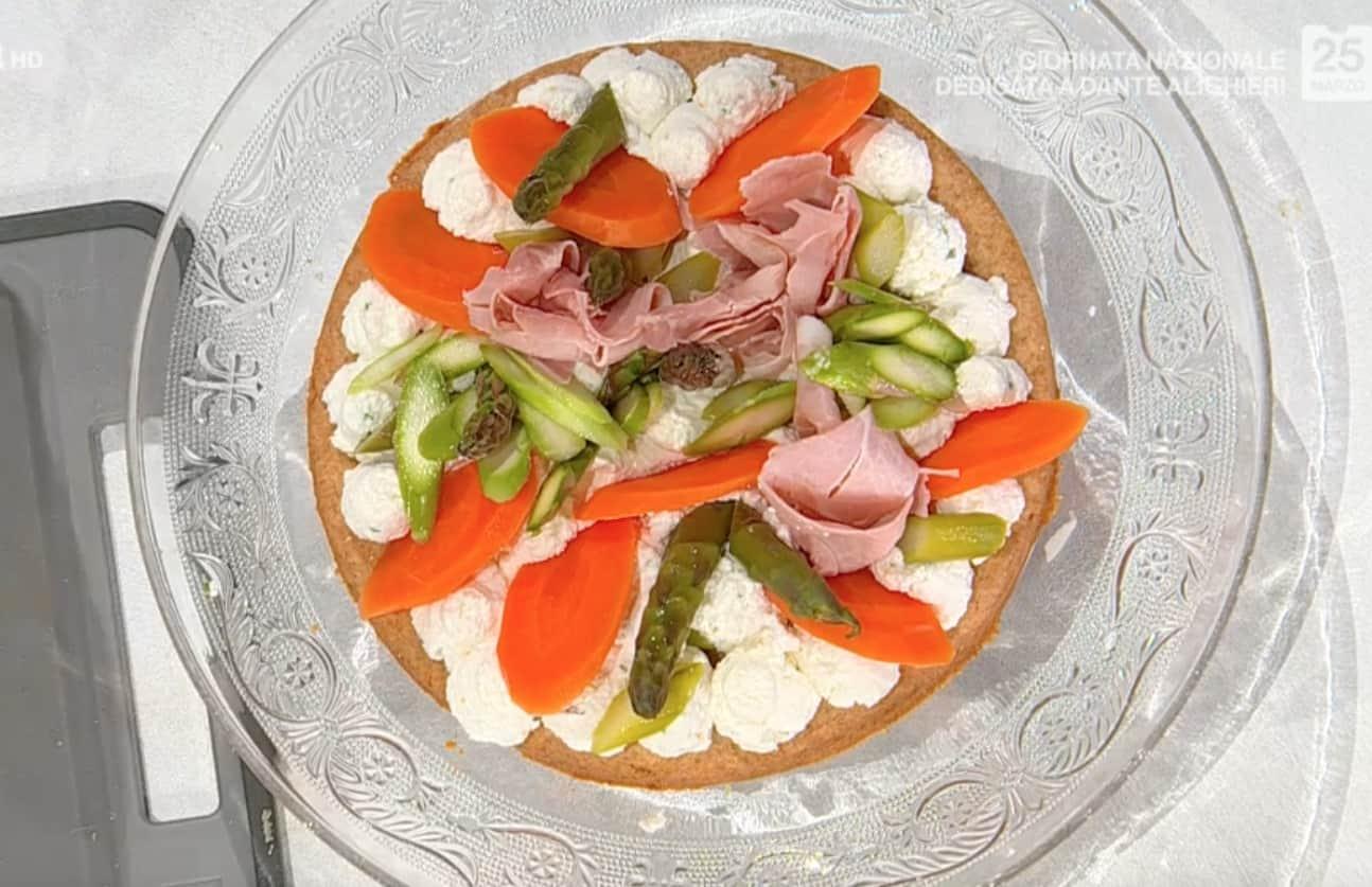 Torta salata delle tentazioni, la ricetta di Francesca Marsetti