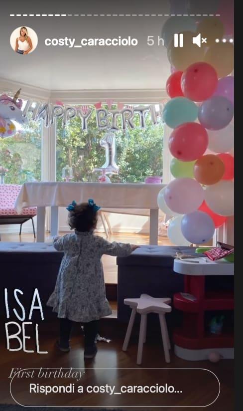Costanza Caracciolo e Vieri festeggiano il primo compleanno di Isabel (Foto)