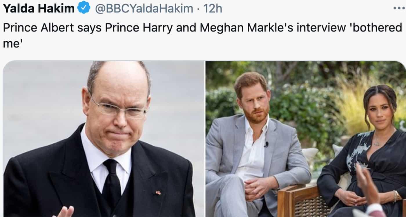 Alberto di Monaco duro contro Harry e Meghan, hanno sbagliato a parlare in tv