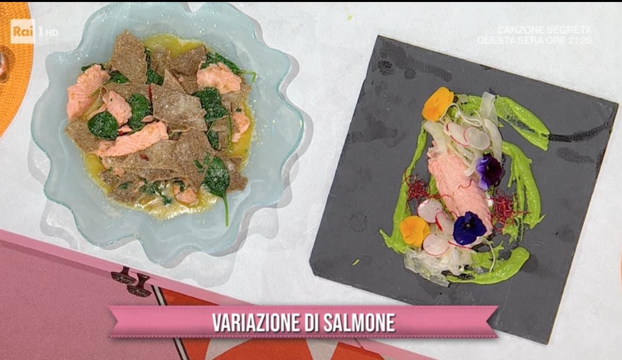 Ricette Mattia Improta: rollè di salmone al vapore