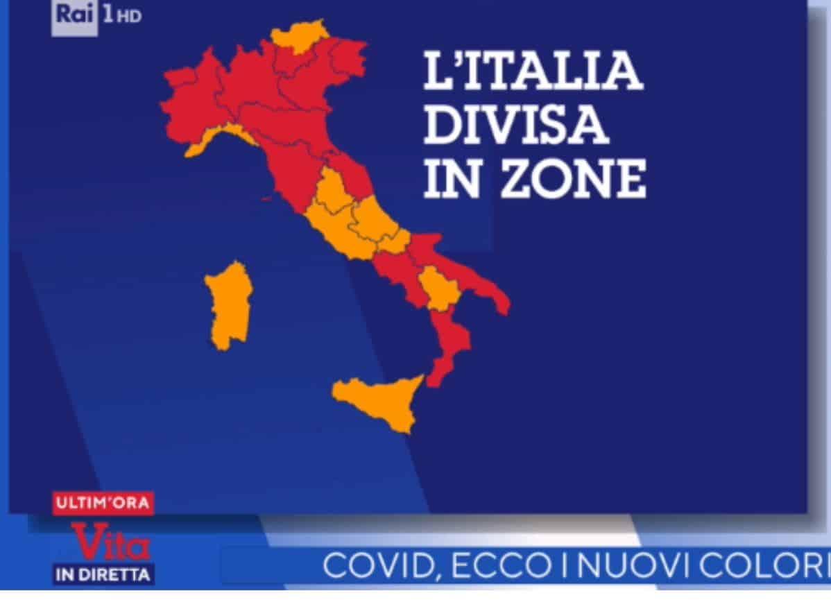 Nuovi colori regioni: il Lazio torna arancione ma da martedì 30 marzo