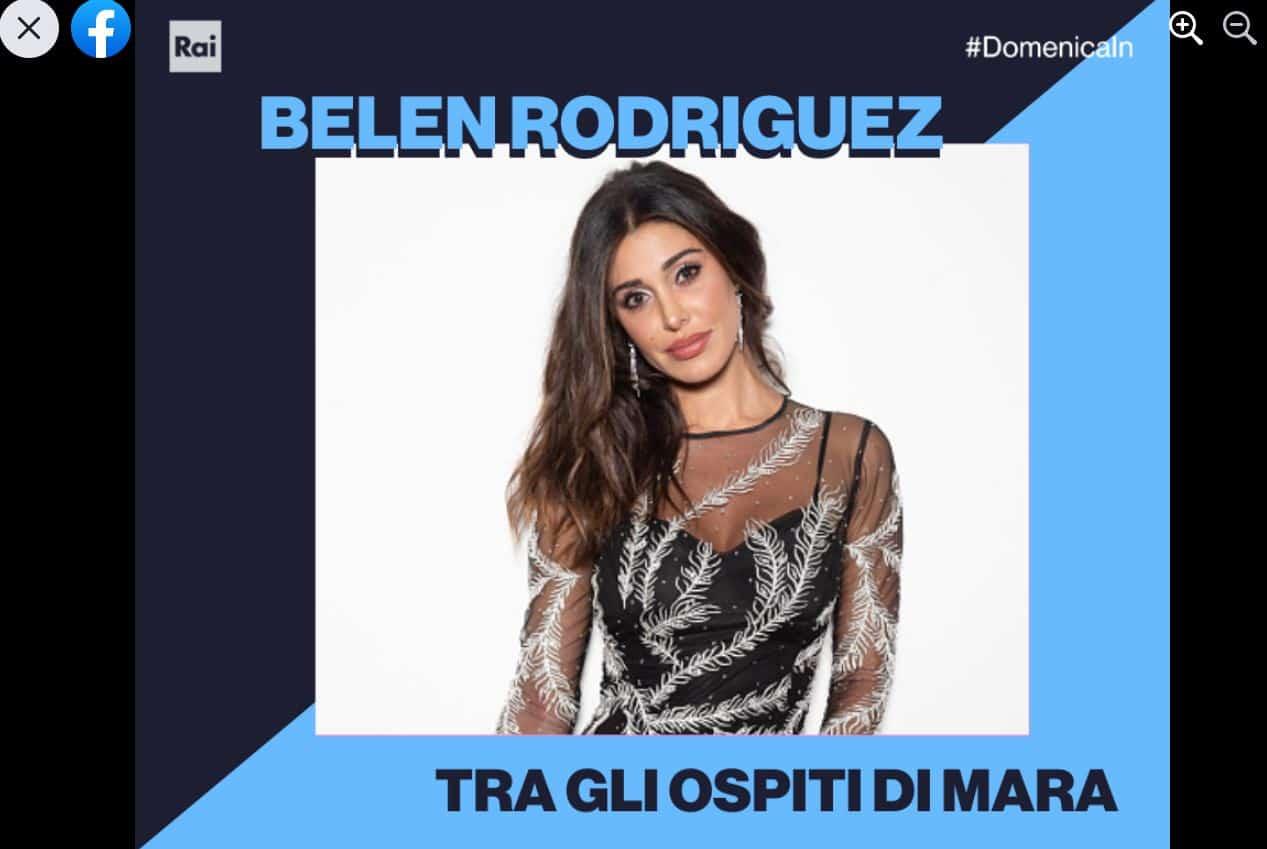 Domenica in 28 marzo 2021: super ospite Belen Rodriguez, tutti i nomi