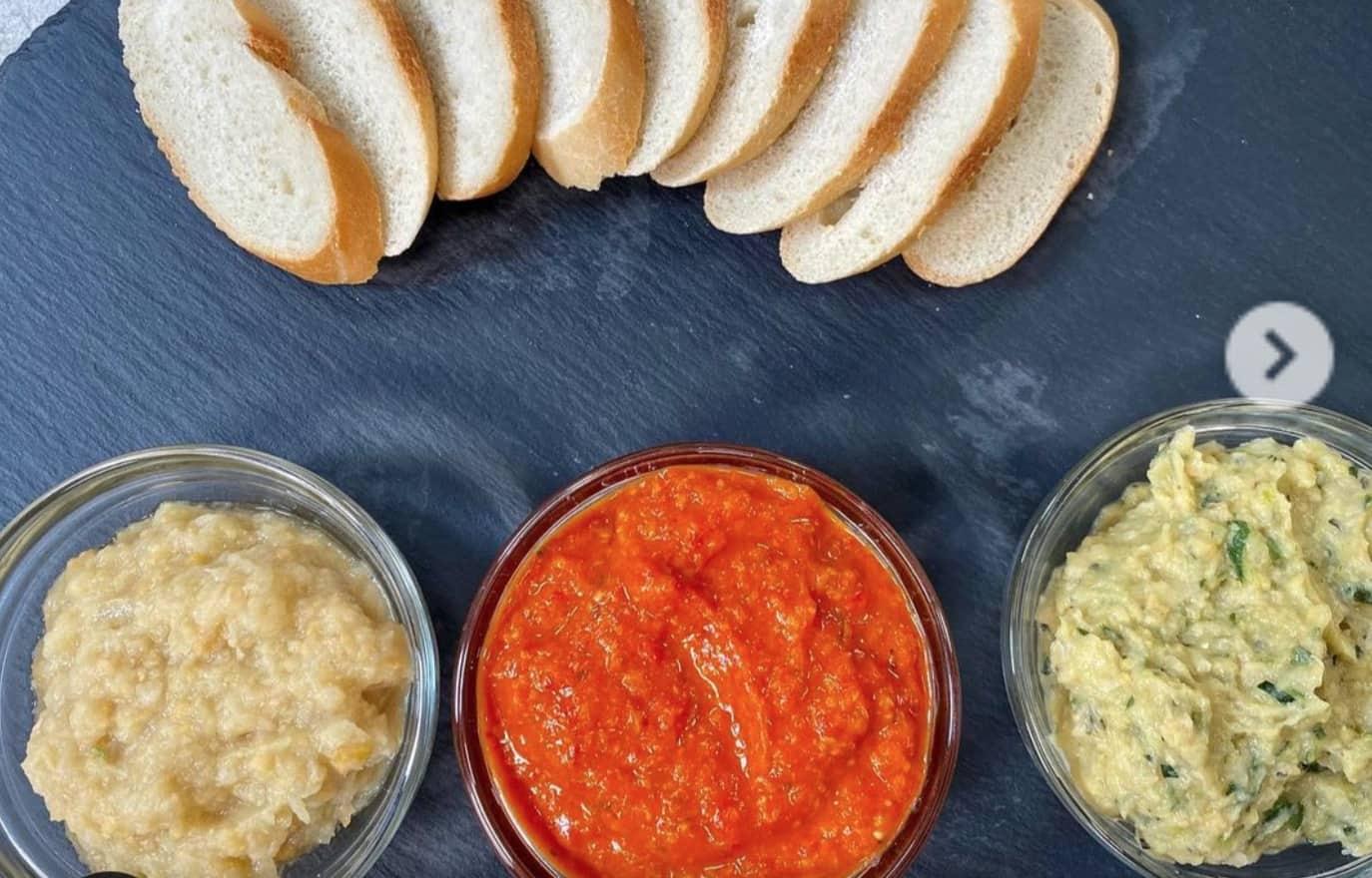 Creme spalmabili con verdure e ceci, la ricetta per l'antipasto
