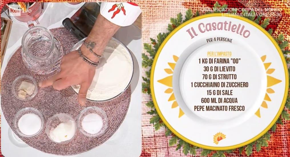 La ricetta del casatiello di Mauro Improta