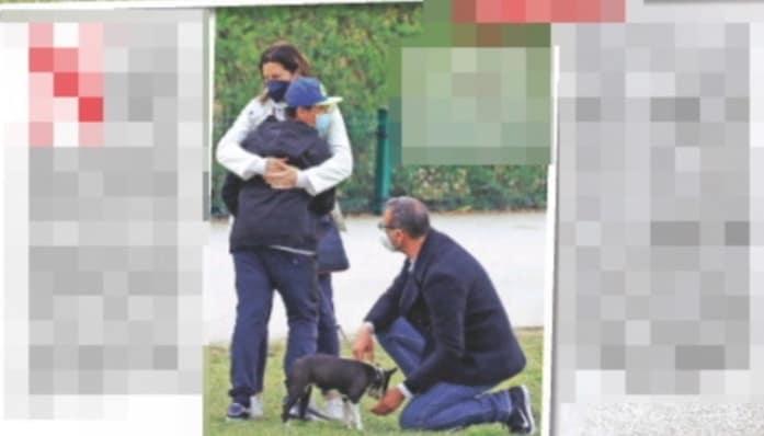 Amadeus e Giovanna, la passeggiata al parco è con la famiglia (Foto)