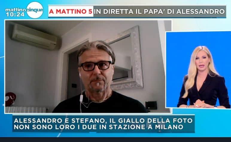 Le lacrime del papà di Alessandro Venturelli a Mattino 5: non è suo figlio il ragazzo in foto