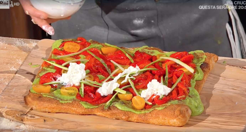 La pizza con le verdure, ricette di Fulvio Marino