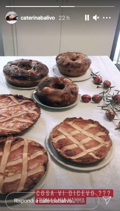 Caterina Balivo festeggia la Pasqua con pastiera e tortano spediti dalla mamma (Foto)
