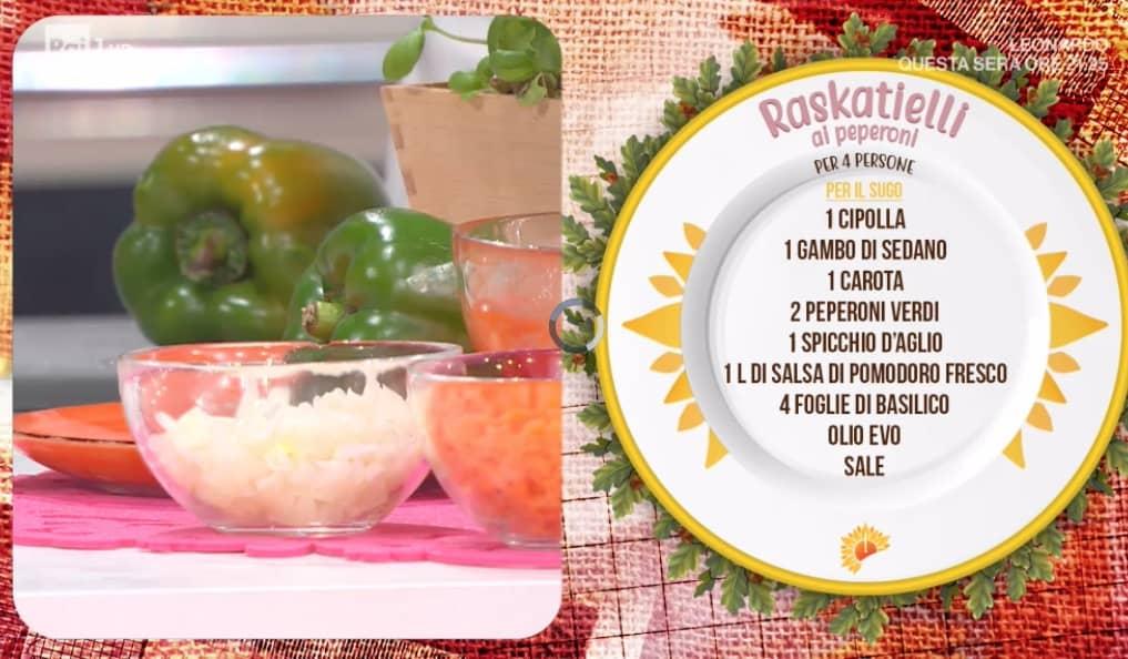 Raskatielli ai peperoni, la ricetta da E' sempre mezzogiorno