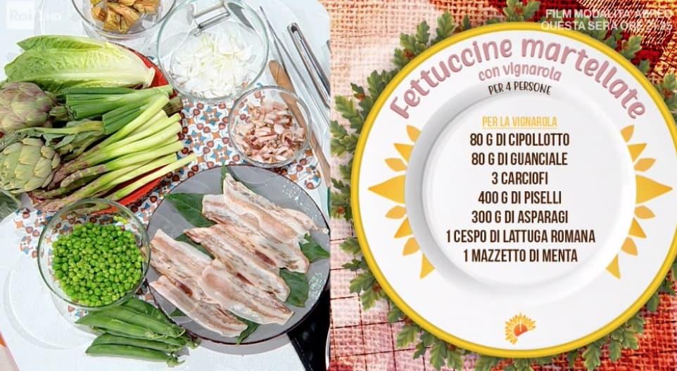 Fettuccine martellate con vignarola, la ricetta di Gian Piero Fava