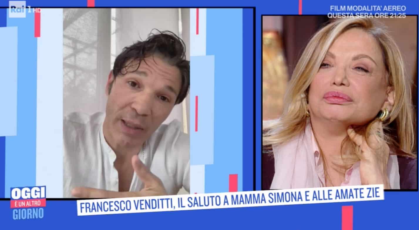 """Il messaggio di Francesco Venditti a Simona Izzo: """"Grazie mamma, sono felice"""""""