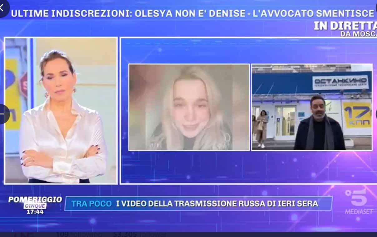 """La rabbia di Barbara d'Urso sulla vicenda di Olesya Rostova: """"Sono scioccata, non si gioca così"""""""