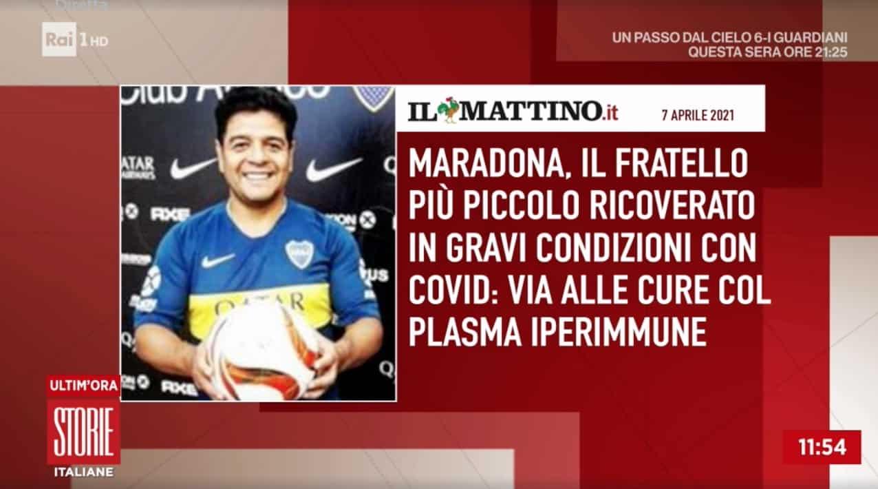 Il fratello di Maradona ricoverato per Covid in gravi condizioni inizia la cura col plasma iperimmune