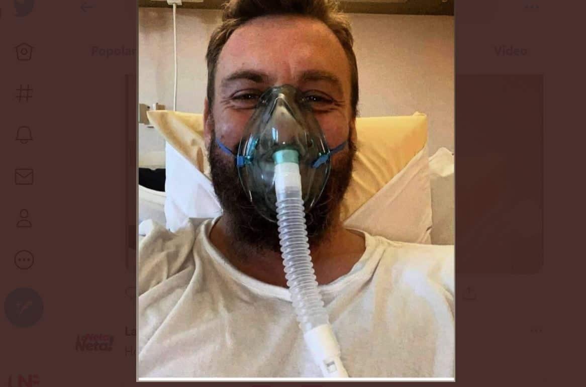 Daniele De Rossi combatte il covid in ospedale