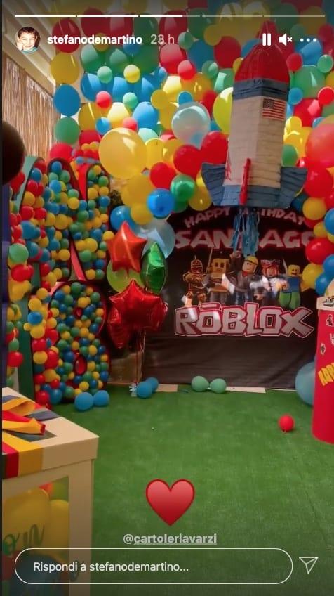 Anche Stefano De Martino ha organizzato una festa di compleanno per Santiago (Foto)