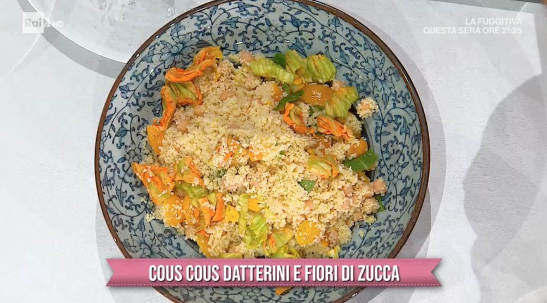 Cous cous datterini e fiori di zucca, la ricetta di Marco Bianchi