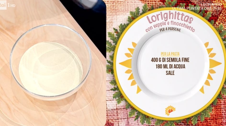 Lorighittas, la ricetta della pasta sarda con seppie di Michele Farru