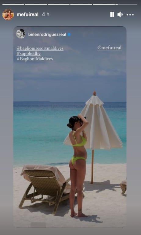 Bikini taglia large per Belen Rodriguez col pancione, lo indossa anche Cecilia (Foto)