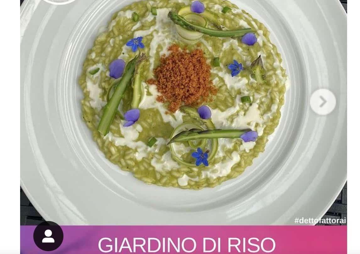 Giardino di riso, la ricetta di David Fiordigiglio