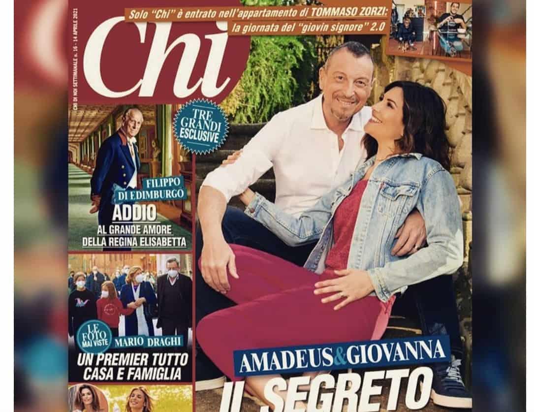 Amadeus e Giovanna Civitillo raccontano il loro amore, la crisi superata e le rinunce (Foto)