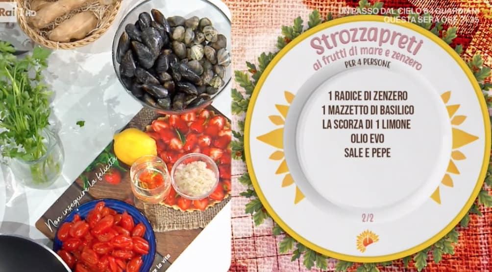 Strozzapreti ai frutti di mare e zenzero, ricetta di Zia Cri