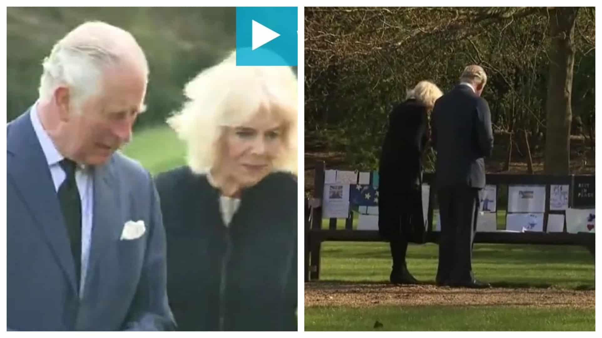 Carlo e Camilla leggono commossi i messaggi per Filippo e per la regina: tutto l'amore dei sudditi