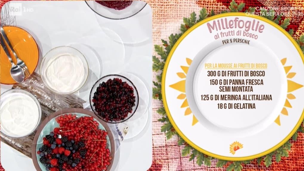 Millefoglie ai frutti di bosco, la ricetta di Sal De Riso